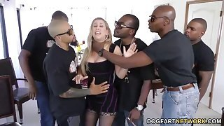 Hardcore blonde milf loves to deep throat big black cocks
