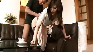 Slender Japanese housewife loves to take it deep and rough