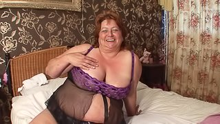 Brigit is a hot chubby babe with massive tits in need of a hard prick