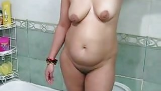 Desi mom in shower