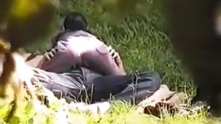 Spying on a kinky young couple having sex in the park