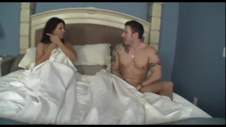 Hot Milf and son share the bed
